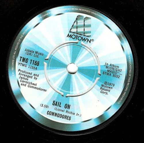 COMMODORES Sail On Vinyl Record 7 Inch Motown 1979